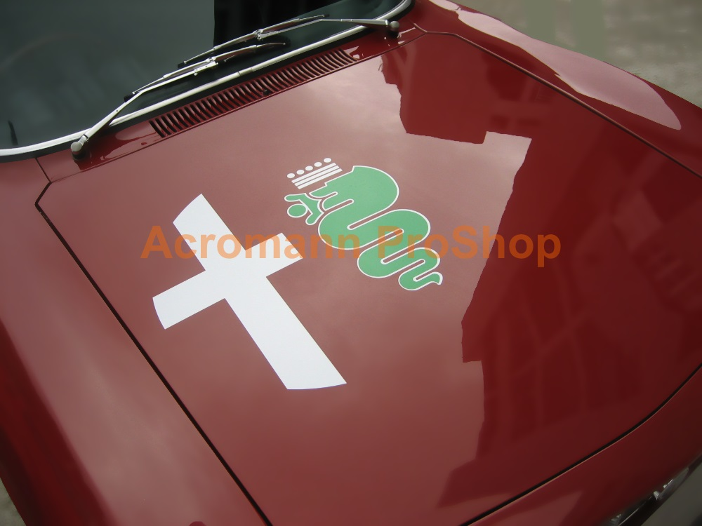 Alfa Romeo Logo Bonnet Decal (Style#2) x 1 pc